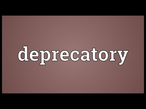 Header of deprecatory
