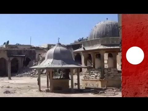 Historical minaret in Aleppo is latest casualty in Syrian conflict