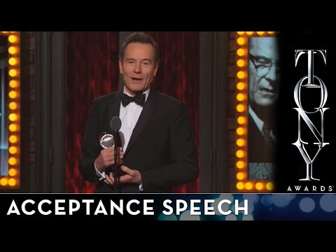 2014 Tony Awards: Acceptance Speech - Bryan Cranston