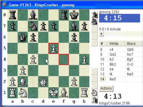 Chess World.net: Blitz #103 vs. gyoung (2292) - Sicilian Defense: Accelerated Dragon