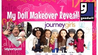 My Goodwill Journey Girl Doll Makeover Reveal✨