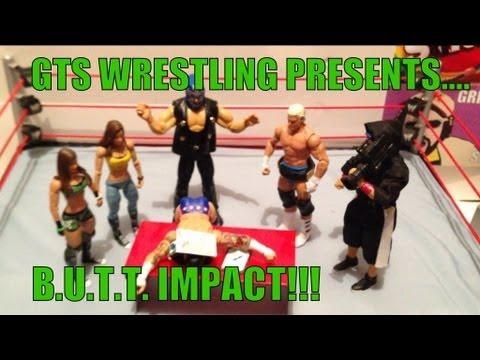 GTS WRESTLING: Butt Impact! WWE figures matches parody mattel elite figure animation stop motion