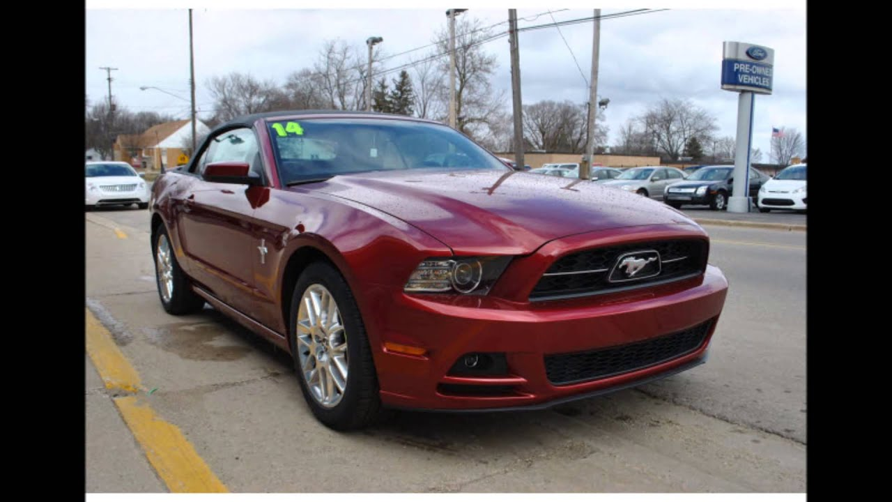 2014 Ford Mustang V6 Premium Ruby Red Metallic Tinted