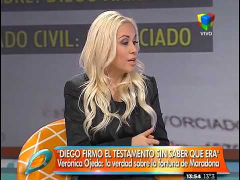 Verónica Ojeda aseguró que Maradona no sabe que firmó su propio testamento