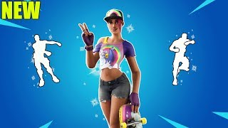 FORTNITE BEACH BOMBER SKIN DOING DANCE EMOTES (including floss and Scenario)