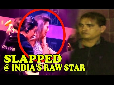 Gauhar Khan Slapped, Beaten, Molested On India's Raw Star For Wearing 'short Dress' video