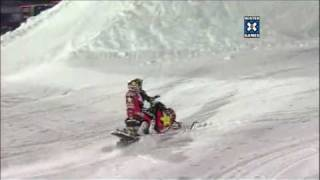 X Games - 2 riders on the same backflip nac nac Snowmobile