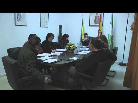 Pleno Municipal en Sanlúcar de Guadiana 31 enero 2014 1ª Parte