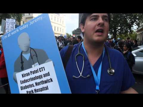 Junior doctors rally London