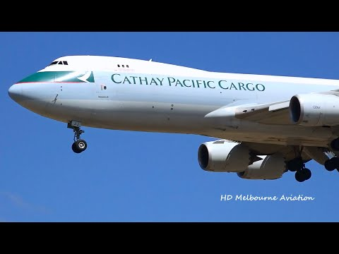 HD Cathay Pacific Cargo 747-8F - Landing at Melbourne Airport Australia [B-LJJ]