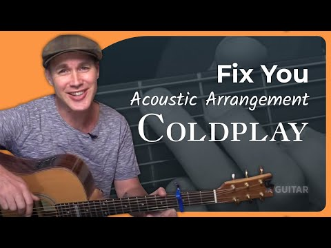 Fix You - Coldplay - Acoustic Beginners Guitar Lesson (SB-221) How To Play Easy Songs On Guitar