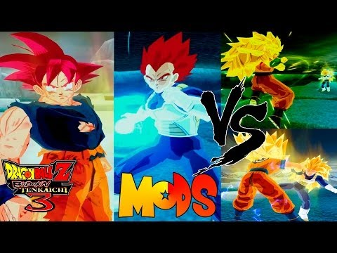 Goku Ssj Dios Vegeta Ssj Dios Dragon Ball Z Tenkaichi 3 MODS Battle of Gods Vegeta Goku