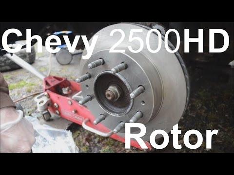 Replace Front Brake Rotors on Chevy Express. Savana. Silverado. Sierra 2500 3500