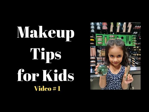 How to do makeup at home for the Kids - Video 1 | Kids makeup | By the Kids