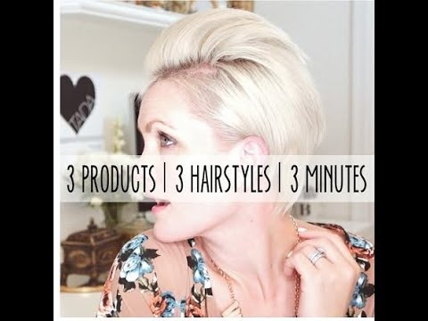 how to style a pixie haircut 3 different ways in 3 minutes