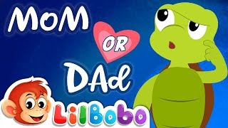 Who do you LOVE more? Mom or Dad ? | Little BoBo Nursery Rhymes - Flickbox Kids Songs
