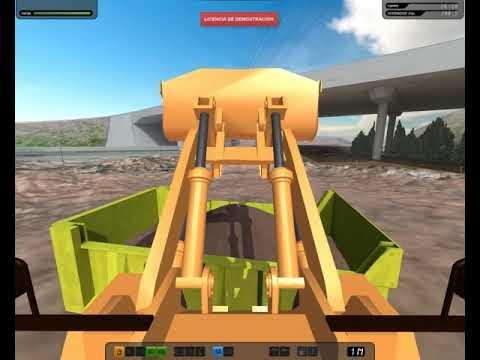 Simulador de pala cargadora de ruedas