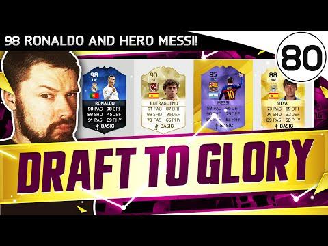 98 Ronaldo & HERO Messi!! FUT DRAFT TO GLORY #80 - FIFA 16 Ultimate Team Gameplay