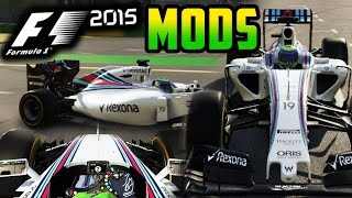 F1 2015 MODS - Williams Martini Mod! (Williams Red Stripes Livery)