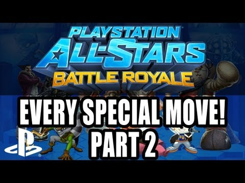 PlayStation All-Stars Battle Royale - All Special Moves PS3 (part two)