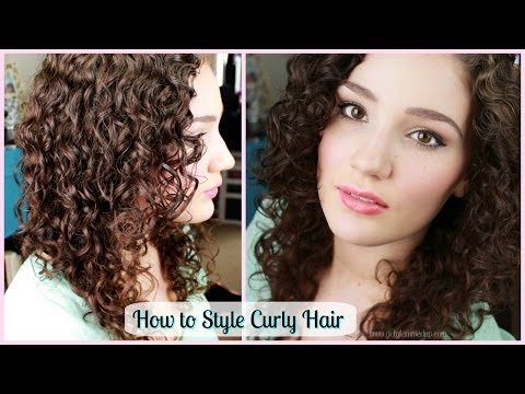 How to Style Curly Hair & Create Ringlets +GIVEAWAY WINNER!