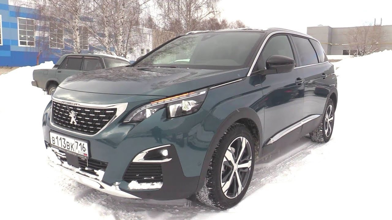 2019 Peugeot 5008 GT Line. Start Up, Engine, and In Depth Tour.