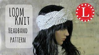 LOOM KNIT Headband Ear warmer (Round Loom) Easy Pattern Project