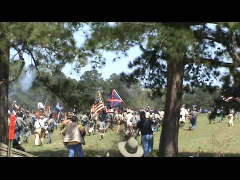 145th Anniversary Battle of Pleasant Hill, LA - Pt 3 Union troops