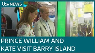 Prince William and Kate Middleton pay visit to famous amusement arcade on Barry Island | ITV News