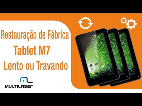Restauração de fábrica no Tablet M7   Multilaser