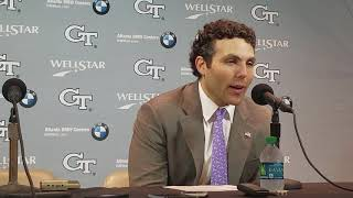 Georgia Tech head coach Josh Pastner