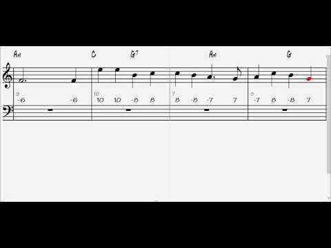 Huron Carol Play-along Sheet Music Chromatic Haromica Tabs
