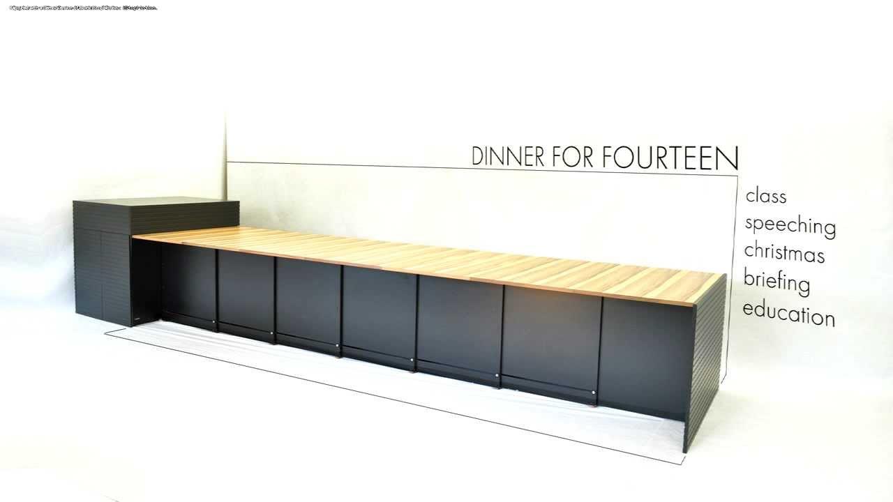 ausziehtisch wipf co ag f r 2 16 personen youtube. Black Bedroom Furniture Sets. Home Design Ideas
