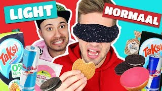 LIGHT VS NORMAAL ETEN CHALLENGE!
