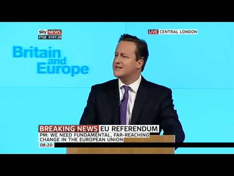 David Cameron's EU Speech (FULL) - 23/01/2013