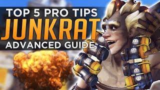 Overwatch: Top 5 PRO Junkrat Tips! - Advanced Guide