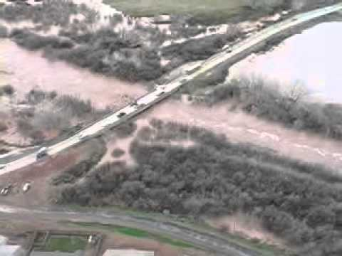 Helicopter footage from the 2005 flooding in St. George, UT