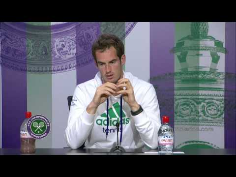 Andy Murray 'very happy' with Wimbledon 2014