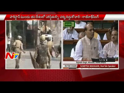 Home Minister Rajnath Singh Fires On Pakistan in Lok Sabha | Unrest In Kashmir | NTV