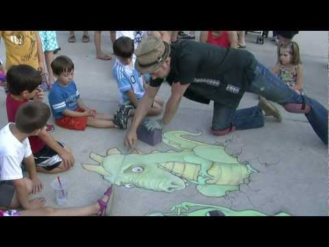 Chalk Artist David Zinn at the Ann Arbor Summer Festival/Top of The Park