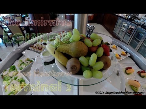The Emirates Lounge Business Class | London Heathrow Terminal 3 | Flight EK30
