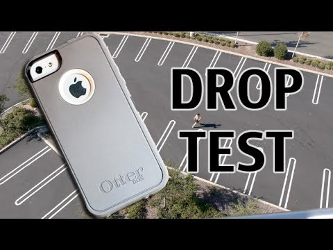iPhone 5S Otterbox Defender Drop Test from 100 feet