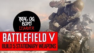 BATTLEFIELD V: HOW TO BUILD 5 STATIONARY WEAPONS! + Subtitles/CC