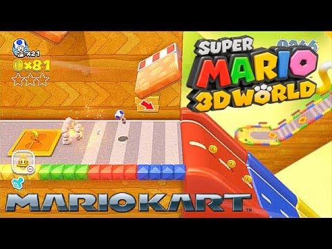 Super Mario 3D World Wii U - Mario Kart level speedrun