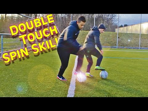 Learn Cristiano Ronaldo Skills - Double Touch Spin Skill Trick Tutorial By Freekickerz video