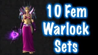 10 Sexy Female Warlock Transmog Sets (World of Warcraft)