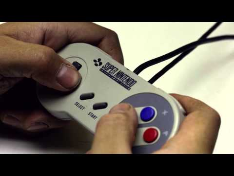 Playing with a SNES game pad, ASMR, no talking