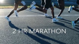 How fast you have to run in a 2hr Marathon