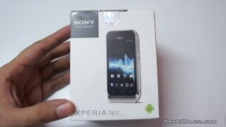 Sony Xperia Tipo Unboxing & first boot