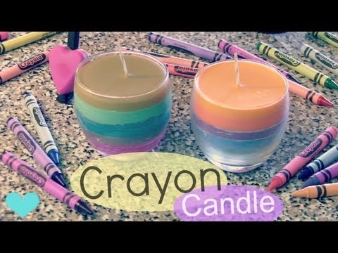 crayon candle   how to   home decor   fall into crafts